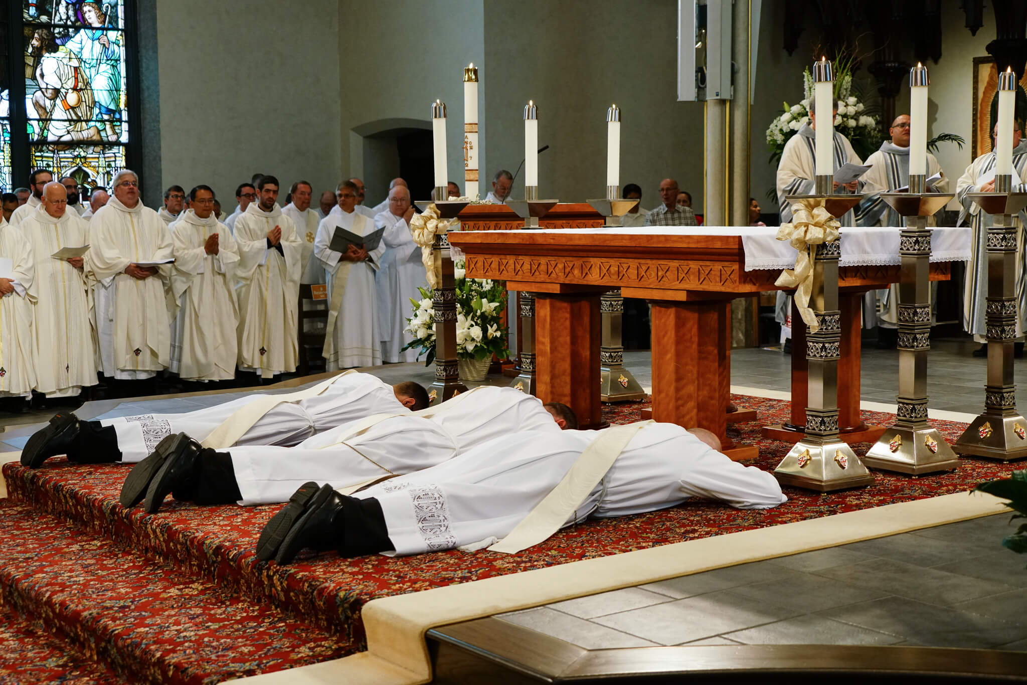 ordination mass prostrate altar cathedral